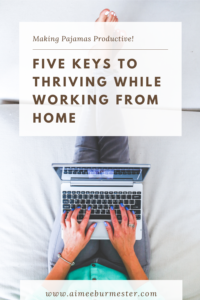Five tips for working from home