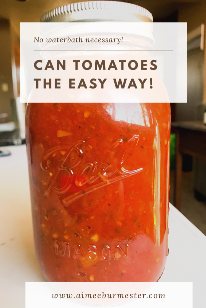 The easiest and simplest way to can tomatoes