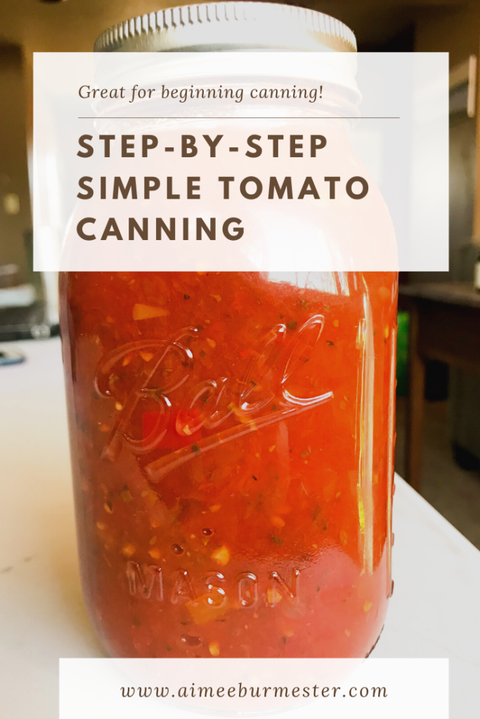 Step-by-step simple tomato canning