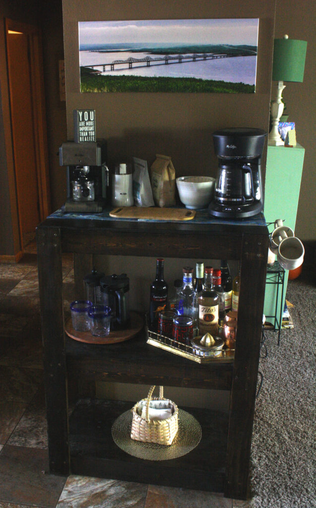 Building a Coffee Bar and Bar Cart