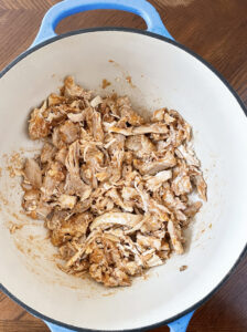 Dutch Oven Mexican Shredded Chicken