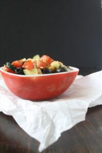 Cucumber tomato greek salad